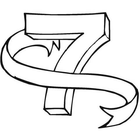 Desenho De Numero 7 Para Colorir Tudodesenhos