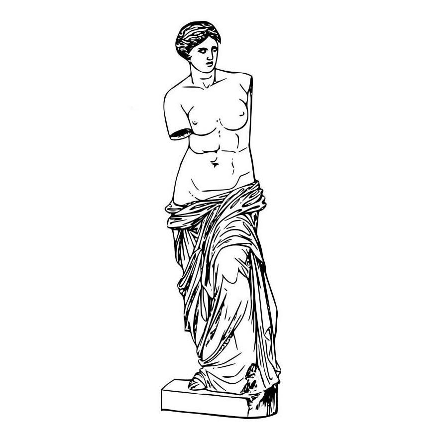 desenho de afrodite escultura para colorir tudodesenhos