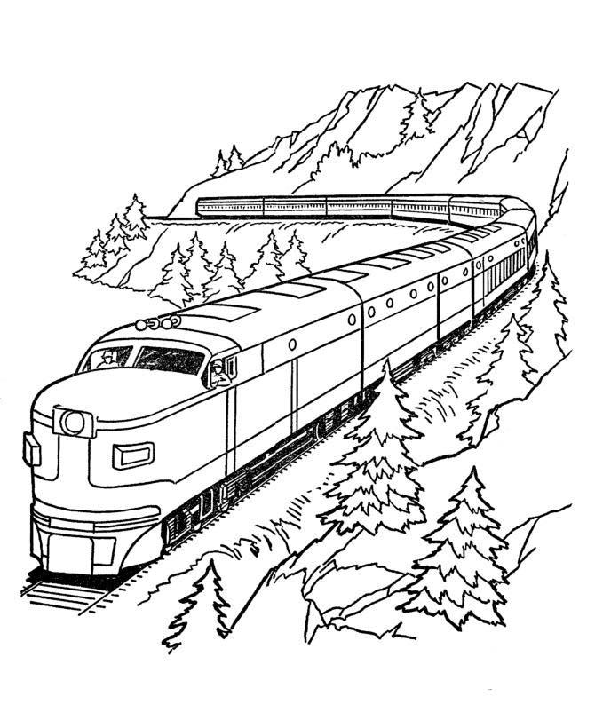 desenho de trem com vagões para colorir tudodesenhos