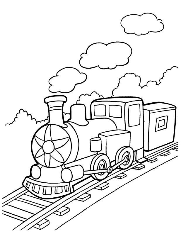 Desenho De Viagem De Trem Para Colorir Tudodesenhos