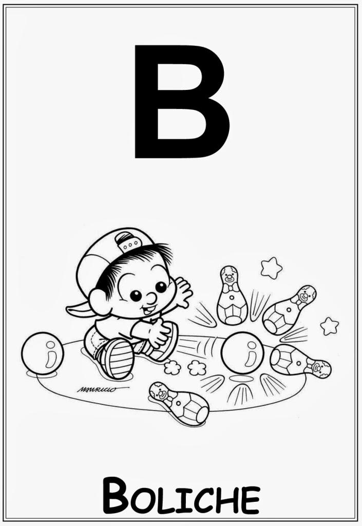 Alfabeto da turma da monica letra b