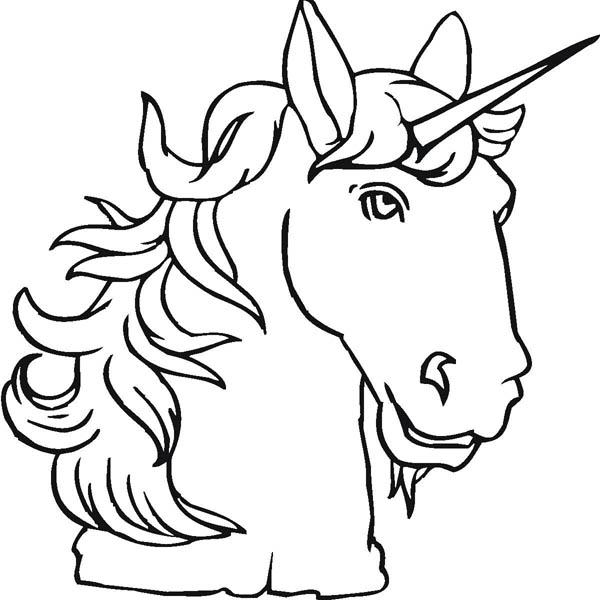 desenho de chifre do unicórnio para colorir tudodesenhos