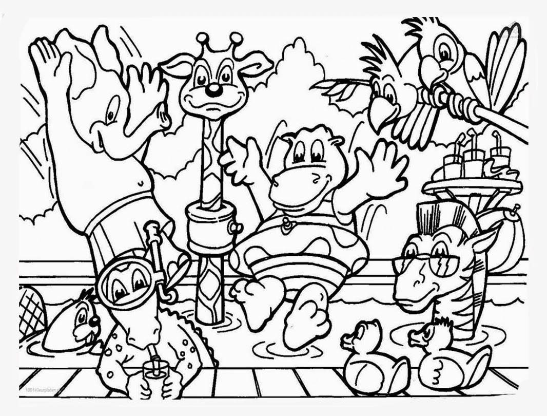 Desenho De Animais Do Zoologico Para Colorir Tudodesenhos