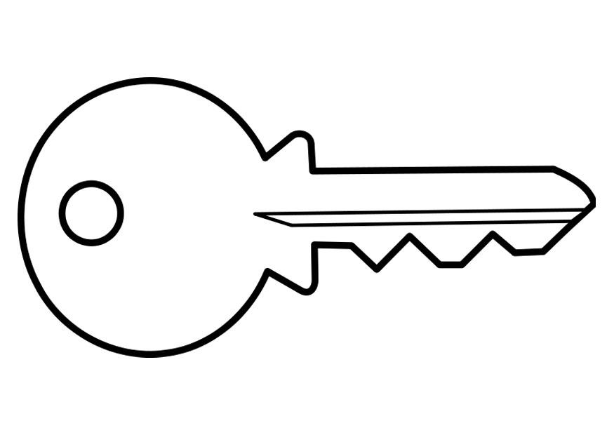 desenho de chave para colorir   tudodesenhos