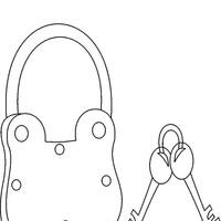 desenho de chave e cadeado para mala para colorir   tudodesenhos