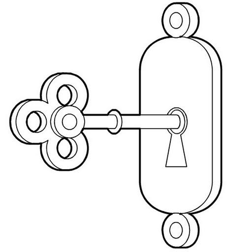 desenho de chave e ferradura para colorir   tudodesenhos