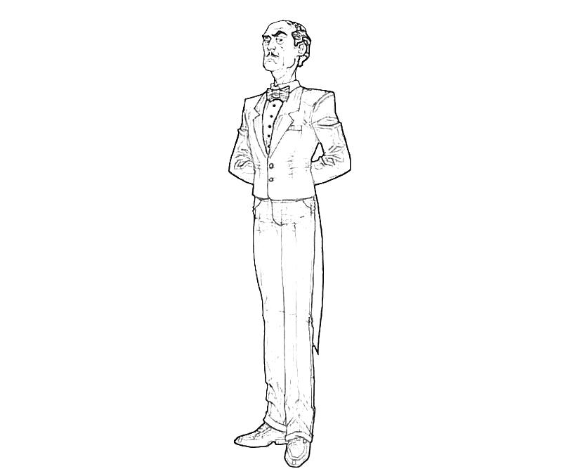 Desenho De Alfred Pennyworth Para Colorir