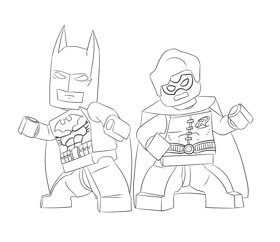 desenho de batman e robin lego para colorir tudodesenhos