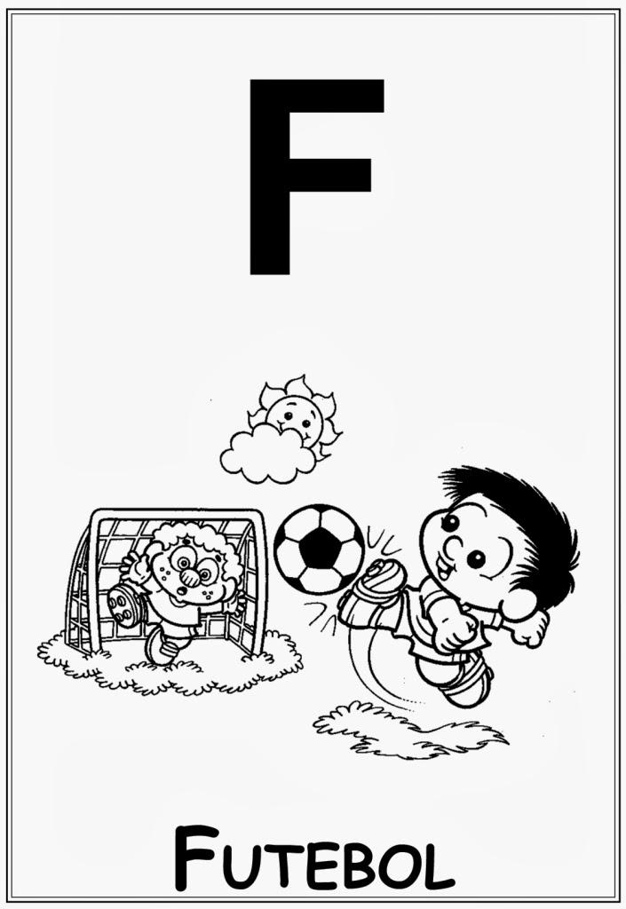 Alfabeto da turma da monica letra f