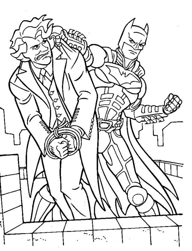 Desenho De Batman Prendendo Coringa Para Colorir Tudodesenhos