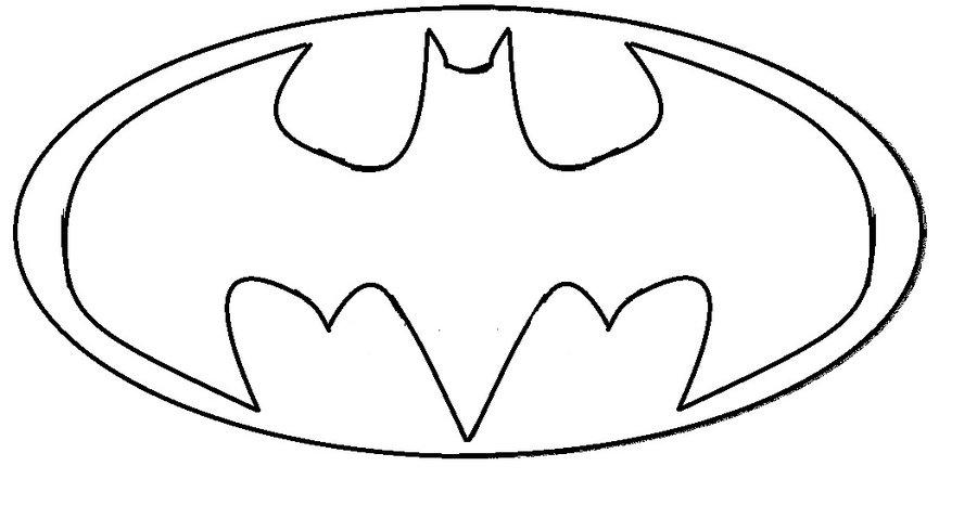 Desenho De Símbolo Do Batman Para Colorir