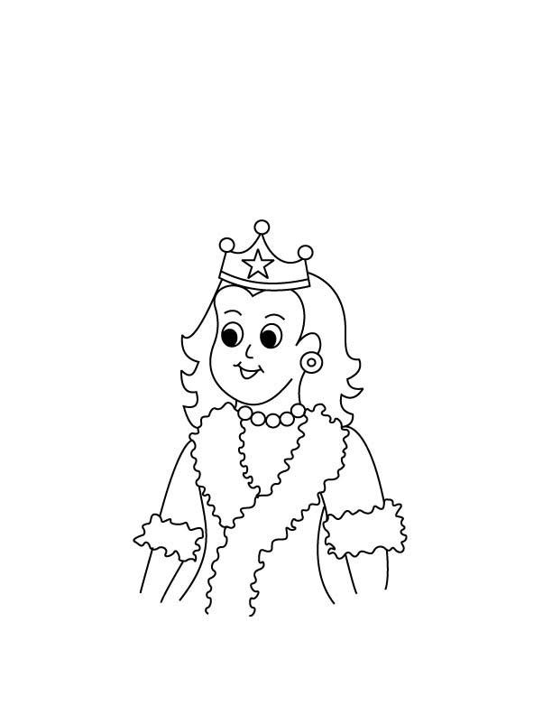 Desenho De Menina Rainha Para Colorir