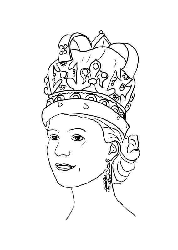 Desenho De Rainha Com Coroa Para Colorir Tudodesenhos