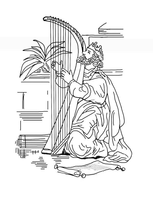 desenho de rei davi para colorir tudodesenhos