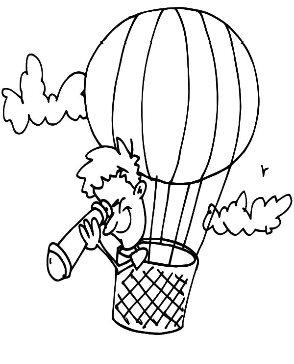 Air Balloon Color Pages