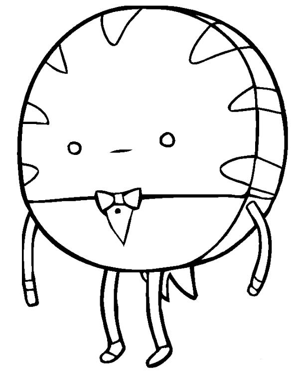 Desenho de Mordomo Menta de Hora de Aventura para colorir - Tudodesenhos