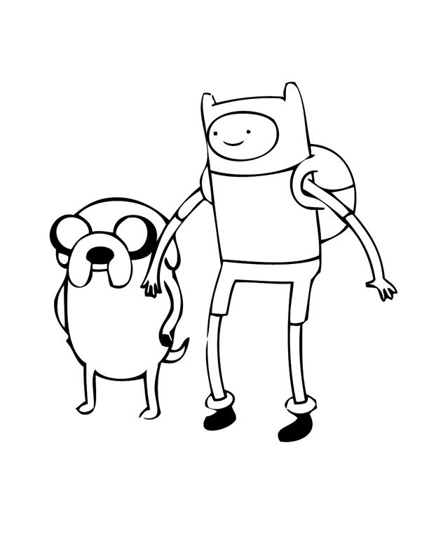 Desenho de Finn e Jake de Hora de Aventura para colorir - Tudodesenhos