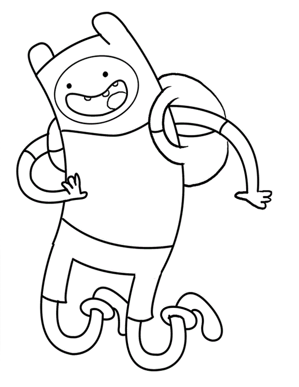 Similiar Adventure Time Finn Coloring Pages Keywords