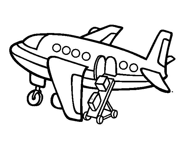 Desenho De Aviao Carregando Equipagem Para Colorir Tudodesenhos