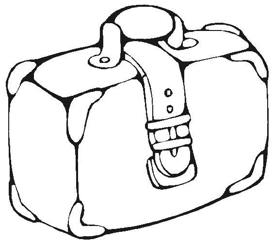 desenho de mala antiga para colorir tudodesenhos