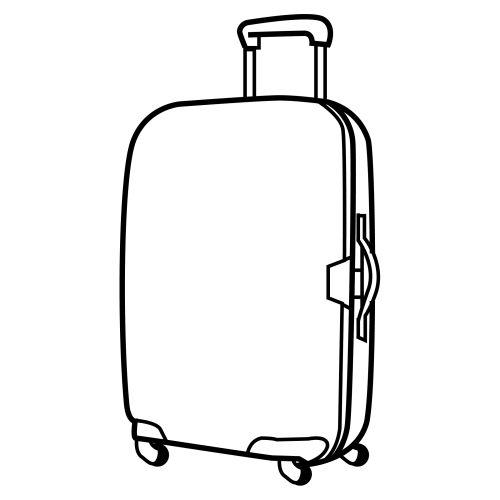 desenhos de mala para colorir tudodesenhos