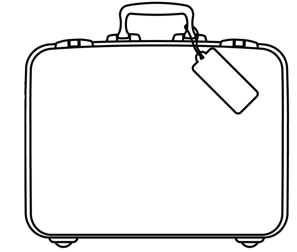 desenho de mala grande para colorir tudodesenhos
