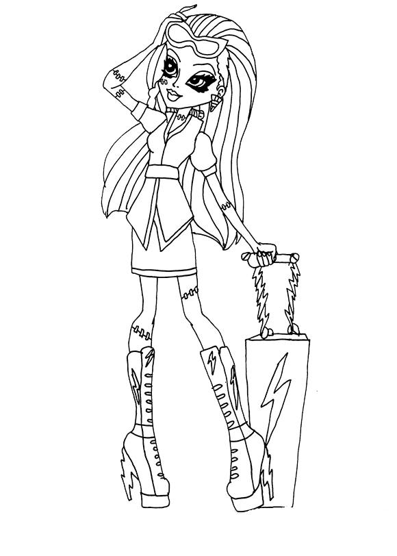 Desenho De Monster High E Mala Para Colorir Tudodesenhos