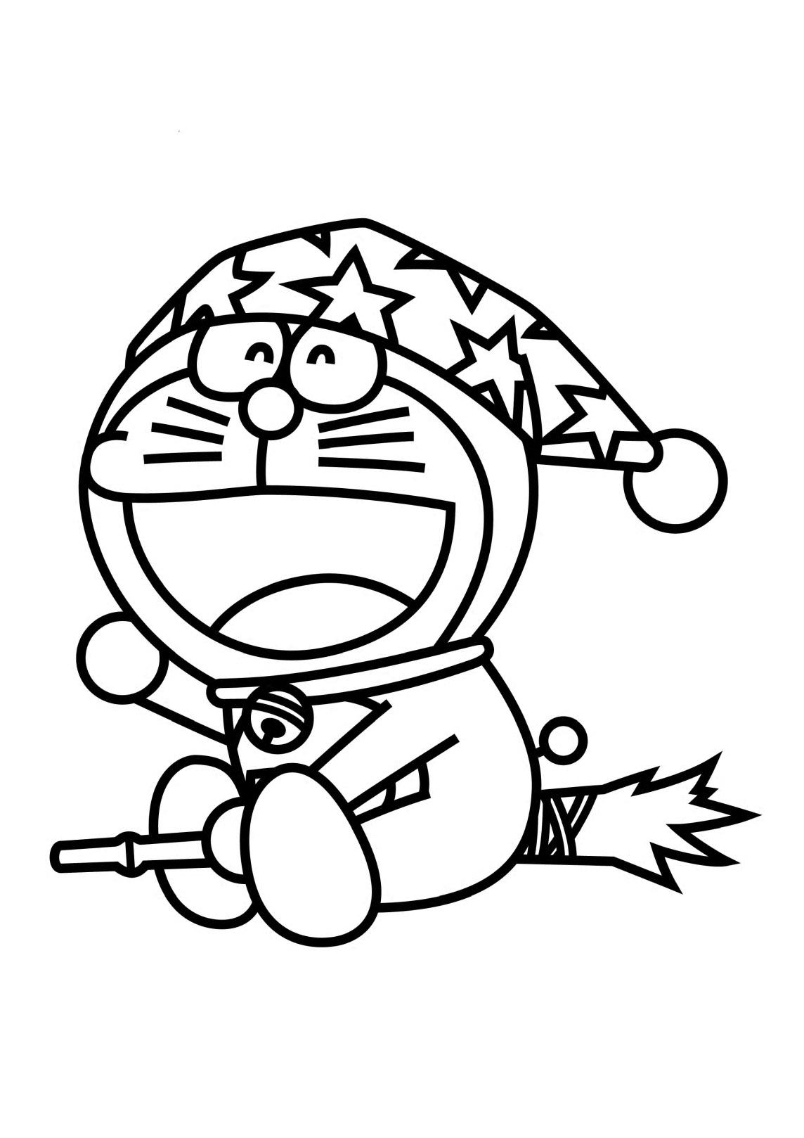 Desenho de doraemon no halloween para colorir tudodesenhos for Doraemon immagini da colorare