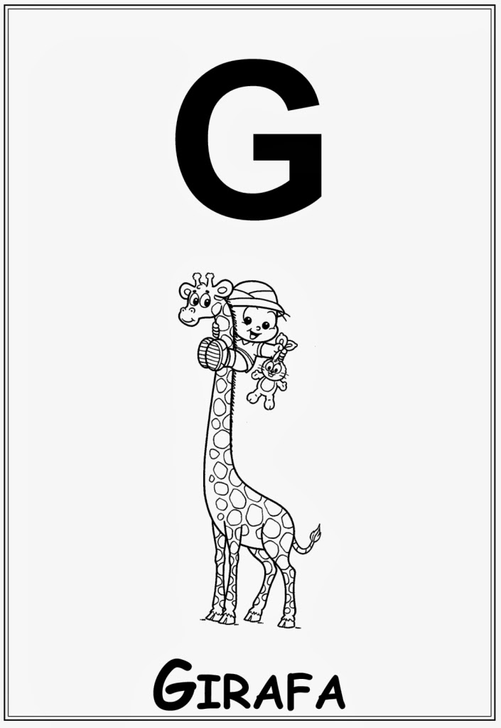 Alfabeto da turma da monica letra g