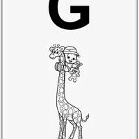 Desenho de Alfabeto da Turma da Monica Letra G para colorir