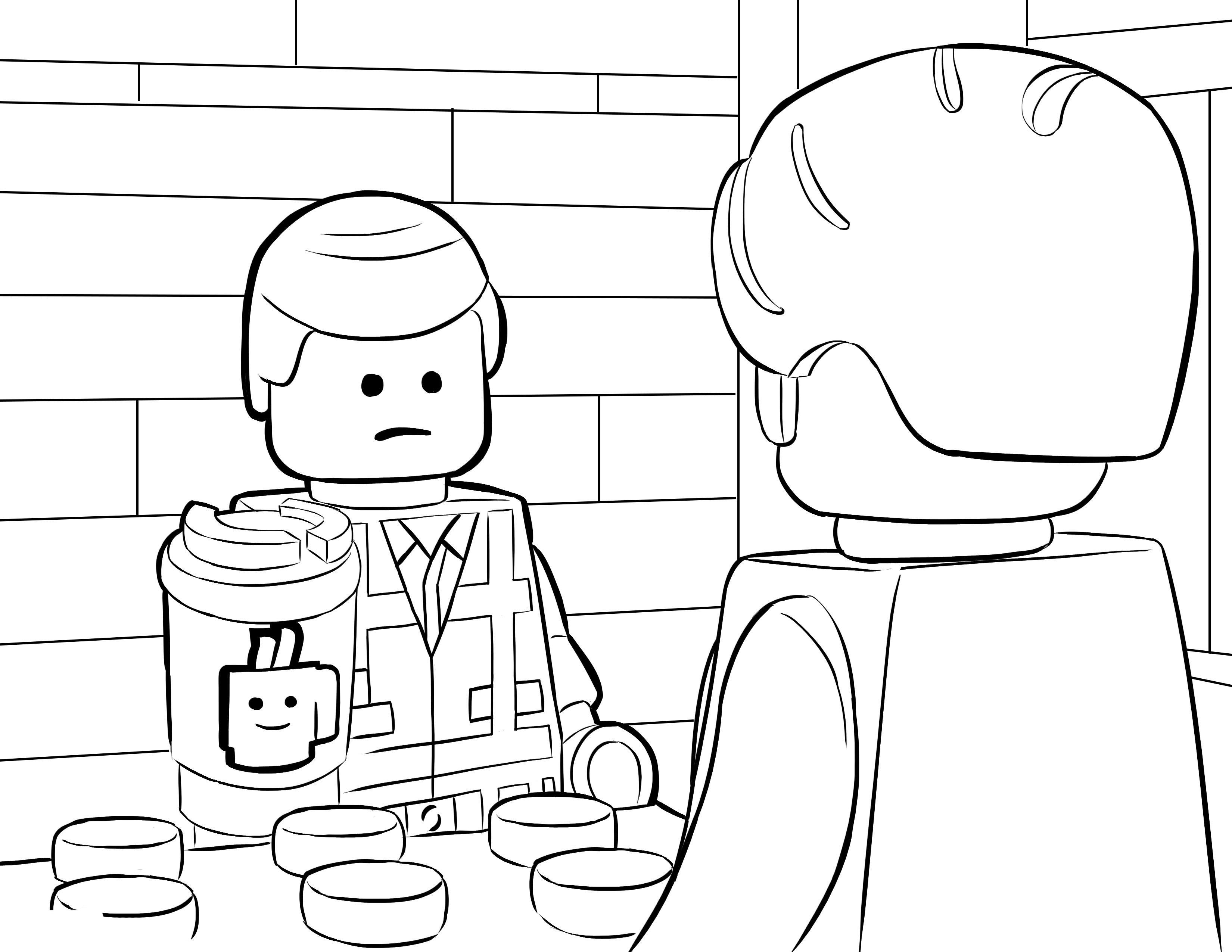 Desenho De Lego Cafeteria Para Colorir
