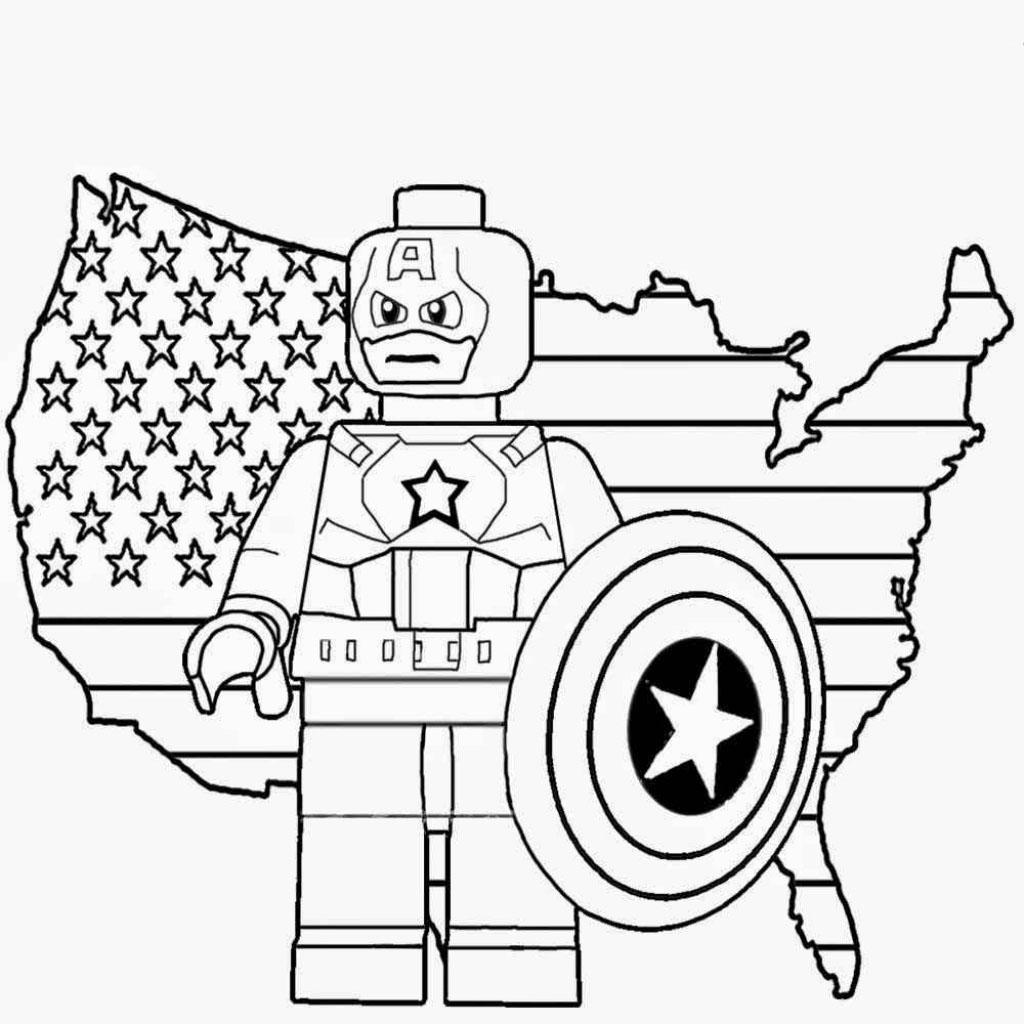 desenho de lego capitão américa para colorir tudodesenhos