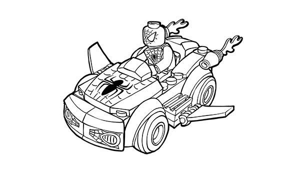 Desenho De Lego Carro Do Homem Aranha Para Colorir