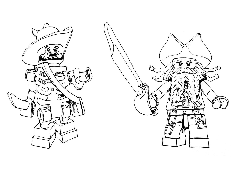 Desenho de Lego Jack Sparrow para