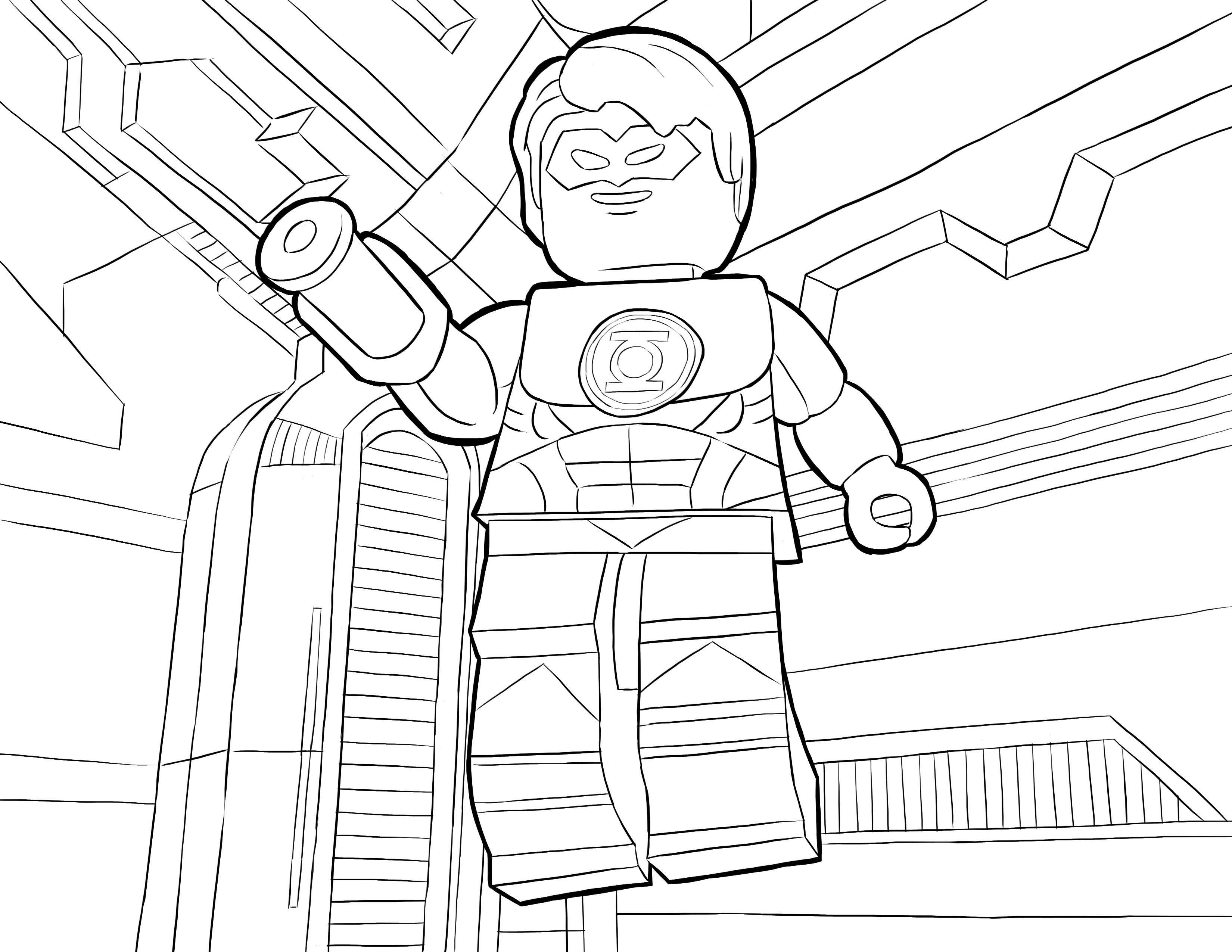 Desenho De Lego Lanterna Verde Para Colorir Tudodesenhos Desenhos Para Colorir Lego