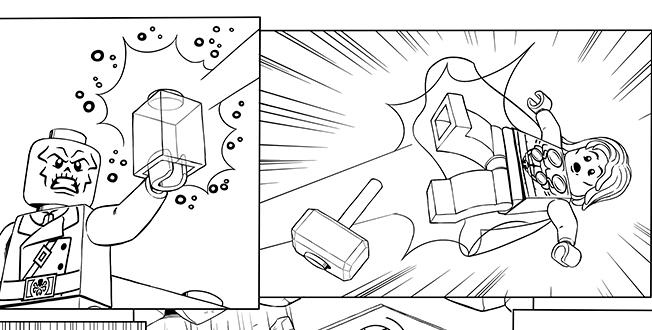 desenho de lego super heróis marvel para colorir tudodesenhos