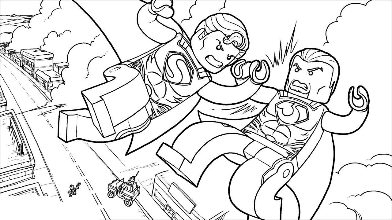 desenho de lego superman o filme para colorir tudodesenhos