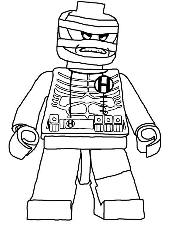 desenho de vilão do batman lego para colorir tudodesenhos
