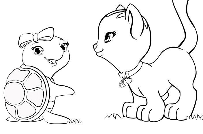 Desenhos De Animais Para Colorir: Desenho De Animais De Lego Friends Para Colorir
