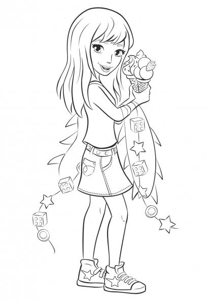 Desenho de stephanie de lego friends para colorir for Stephanie coloring pages