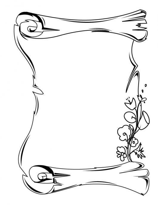 Desenho Pergaminho Escrever