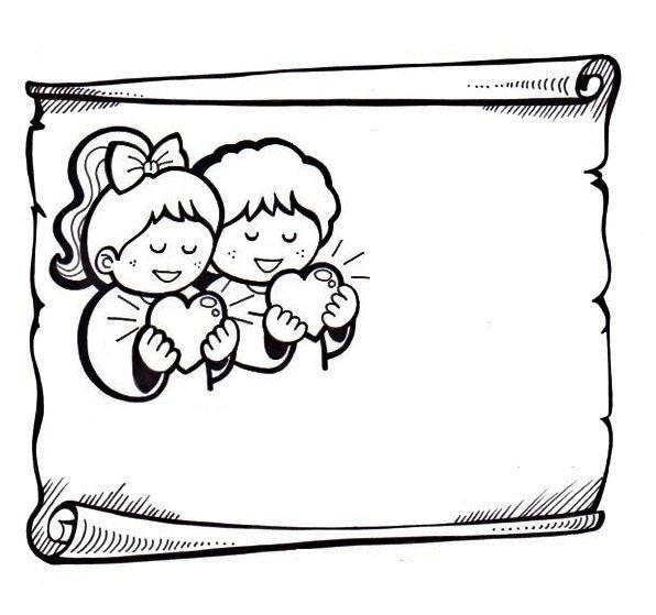 desenho de pergaminho religioso para colorir tudodesenhos