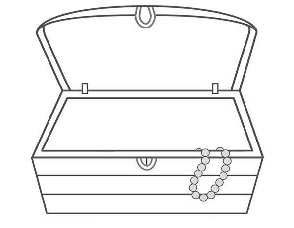 desenho de baú de tesouro vazio para colorir tudodesenhos