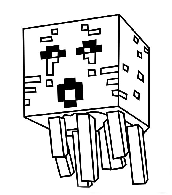 desenho de ghast minecraft para colorir tudodesenhos