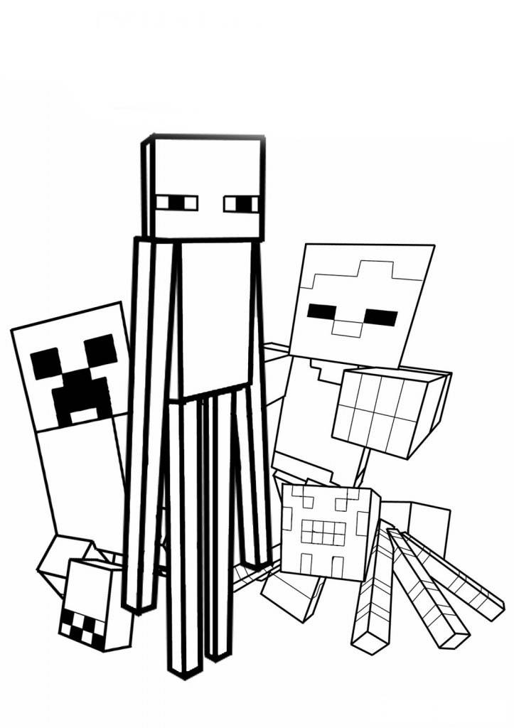 desenho de personagens de minecraft para colorir tudodesenhos