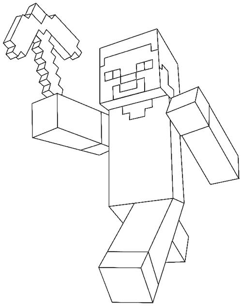 desenho de steve minecraft para colorir tudodesenhos