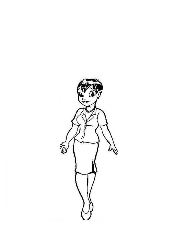 desenho de mulher executiva para colorir tudodesenhos
