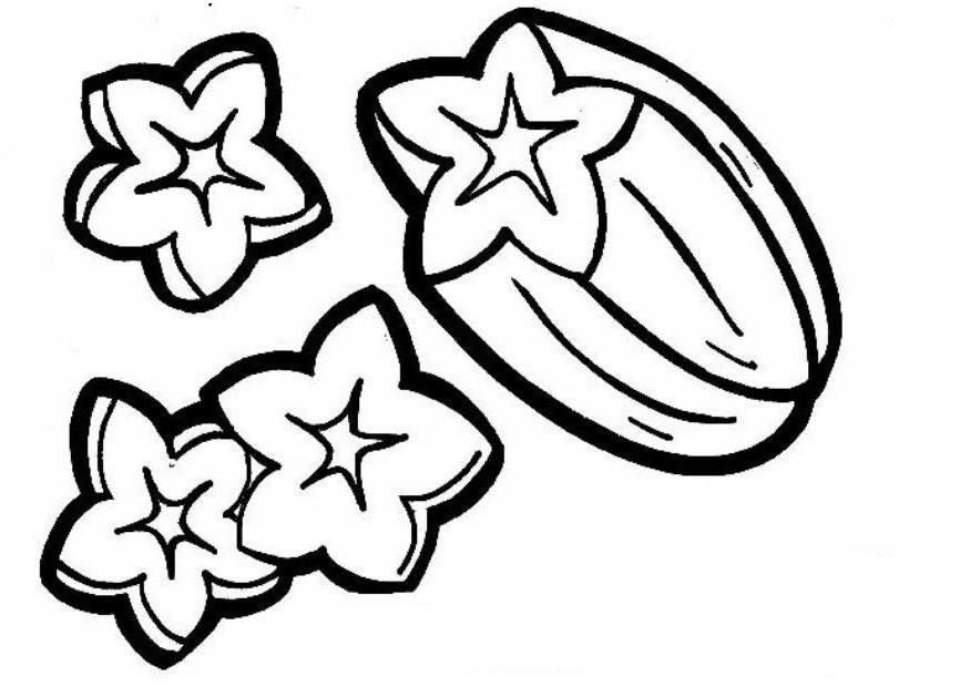 desenho de carambola cortada para colorir tudodesenhos
