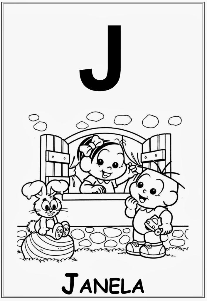 Alfabeto da turma da monica letra j