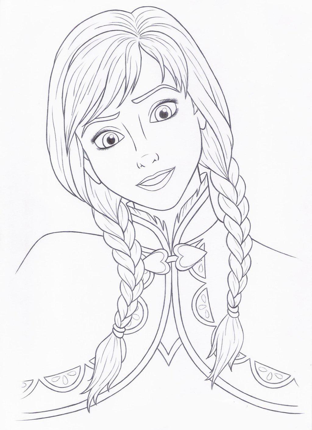 Desenho De Ana Frozen Tranquila Para Colorir Tudodesenhos